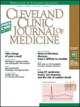 Cleveland Clinic Journal of Medicine: 75 (8)