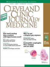 Cleveland Clinic Journal of Medicine: 75 (9)