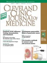 Cleveland Clinic Journal of Medicine: 76 (10)