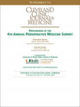 Cleveland Clinic Journal of Medicine: 76 (10 suppl 4)