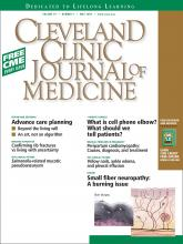 Cleveland Clinic Journal of Medicine: 76 (5)