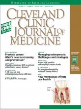 Cleveland Clinic Journal of Medicine: 76 (8)