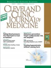 Cleveland Clinic Journal of Medicine: 77 (10)