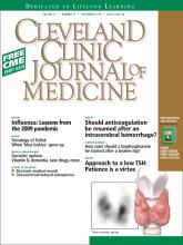 Cleveland Clinic Journal of Medicine: 77 (11)