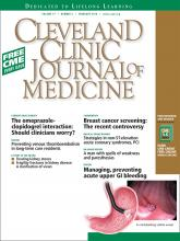 Cleveland Clinic Journal of Medicine: 77 (2)
