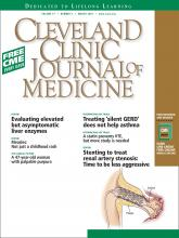 Cleveland Clinic Journal of Medicine: 77 (3)