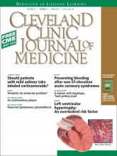 Cleveland Clinic Journal of Medicine: 77 (6)