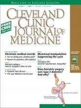 Cleveland Clinic Journal of Medicine: 77 (7)