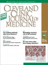 Cleveland Clinic Journal of Medicine: 77 (8)