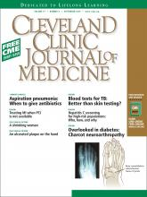 Cleveland Clinic Journal of Medicine: 77 (9)