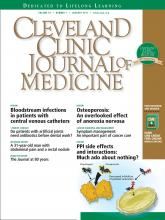 Cleveland Clinic Journal of Medicine: 78 (1)
