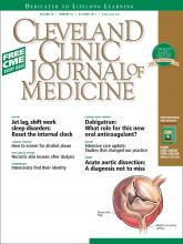 Cleveland Clinic Journal of Medicine: 78 (10)