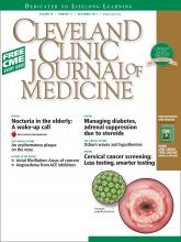 Cleveland Clinic Journal of Medicine: 78 (11)