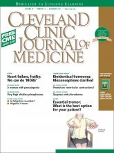 Cleveland Clinic Journal of Medicine: 78 (12)