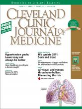 Cleveland Clinic Journal of Medicine: 78 (2)