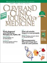 Cleveland Clinic Journal of Medicine: 78 (4)