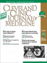 Cleveland Clinic Journal of Medicine: 78 (8)