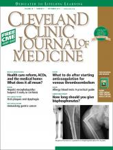 Cleveland Clinic Journal of Medicine: 78 (9)