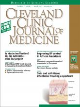 Cleveland Clinic Journal of Medicine: 79 (1)
