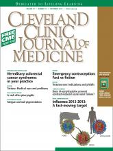 Cleveland Clinic Journal of Medicine: 79 (11)