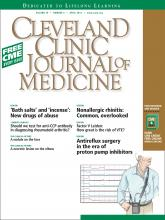Cleveland Clinic Journal of Medicine: 79 (4)