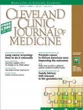 Cleveland Clinic Journal of Medicine: 79 (5)