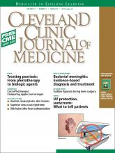 Cleveland Clinic Journal of Medicine: 79 (6)