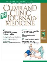 Cleveland Clinic Journal of Medicine: 79 (9)