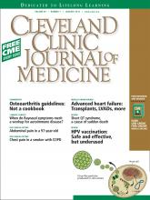 Cleveland Clinic Journal of Medicine: 80 (1)