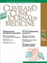 Cleveland Clinic Journal of Medicine: 80 (10)