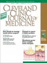 Cleveland Clinic Journal of Medicine: 80 (11)