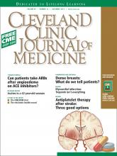 Cleveland Clinic Journal of Medicine: 80 (12)