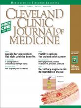 Cleveland Clinic Journal of Medicine: 80 (5)