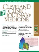 Cleveland Clinic Journal of Medicine: 80 (6)