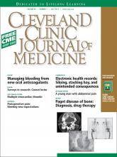 Cleveland Clinic Journal of Medicine: 80 (7)