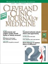 Cleveland Clinic Journal of Medicine: 80 (9)