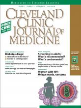 Cleveland Clinic Journal of Medicine: 81 (11)