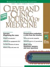 Cleveland Clinic Journal of Medicine: 81 (12)