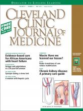 Cleveland Clinic Journal of Medicine: 81 (5)