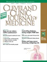 Cleveland Clinic Journal of Medicine: 81 (9)