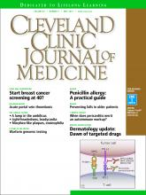 Cleveland Clinic Journal of Medicine: 82 (5)
