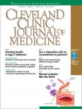 Cleveland Clinic Journal of Medicine: 82 (8)