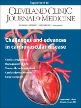 Cleveland Clinic Journal of Medicine: 84 (12 suppl 3)