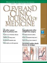 Cleveland Clinic Journal of Medicine: 84 (4)