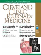 Cleveland Clinic Journal of Medicine: 85 (1)