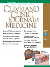 Cleveland Clinic Journal of Medicine: 85 (12)