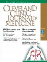 Cleveland Clinic Journal of Medicine: 85 (3)