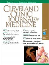 Cleveland Clinic Journal of Medicine: 85 (6)