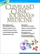 Cleveland Clinic Journal of Medicine: 86 (1)