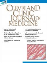 Cleveland Clinic Journal of Medicine: 86 (10)